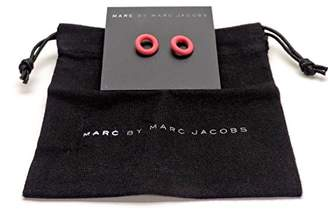 Marc by Marc Jacobs Rubber Doughnut Stud Earrings Bright Rose