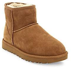 UGG Women's Classic Heritage Mini II Suede & Sheepskin Boots