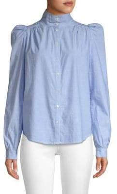 Joie Tandice Gathered Shoulder Blouse