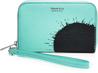 31ee3d370c1 Tiffany   Co.   Co. Color Splash zip wallet in Blue  grain calfskin leather