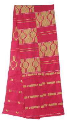 Fair Trade Pink African Kente Cloth Scarf (11 Inch Width), 'Princess'
