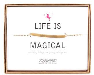 Dogeared 14K Gold Plated Sterling Silver Life is Magical ID Bar Bracelet