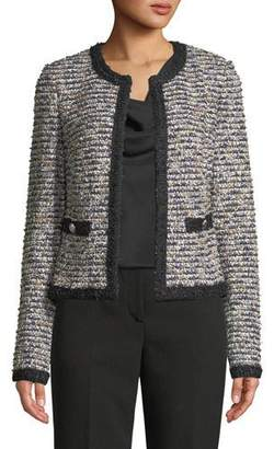St. John Inlaid Eyelash Tweed Jacket
