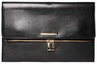 Dorothy Perkins Black Zip Clutch Bag