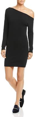 Minnie Rose One-Shoulder Cashmere Sweater Dress