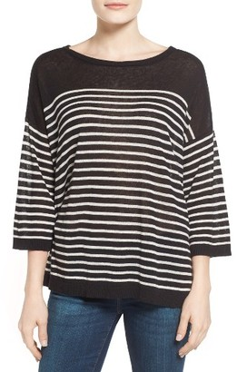 Petite Women's Nydj Serra Stripe Sweater $98 thestylecure.com