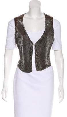 Faith Connexion Embellished Semi-Open Vest