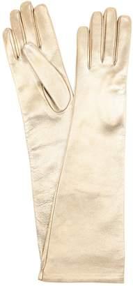 Portolano Mario Long Metallic Leather Gloves