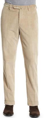 Incotex Wide-Wale Corduroy Trousers, Beige