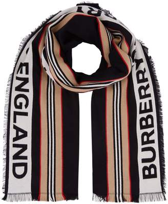 Burberry Icon Stripe Cotton Scarf