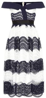 Self-Portrait Off-the-shoulder lace dress