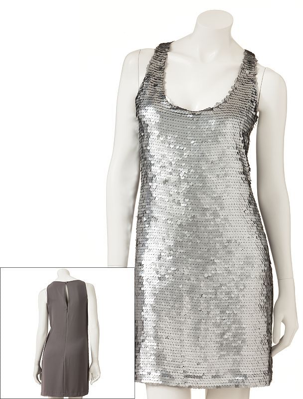 Lauren Conrad paillette shift dress