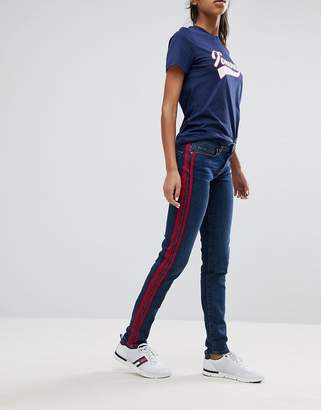 Tommy Hilfiger Mid Rise skinny Jean with Contrast Panel