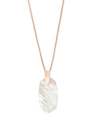 Kendra Scott Inez Long Pendant Necklace in Rose Gold