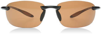 Serengeti Nuvola Sunglasses Shiny Brown 7360 Polariserade 64mm