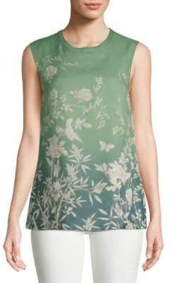 Max Mara Ponera Floral Sleeveless Top