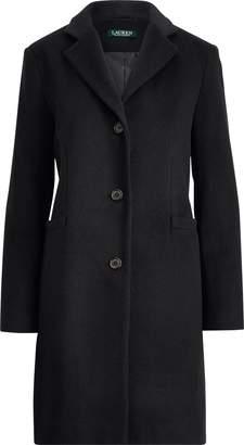 Ralph Lauren 3-Button Wool-Blend Coat