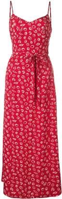 HVN Josephine long slip dress