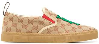Gucci LA patch slip-on sneakers