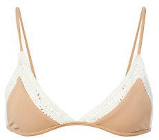 Rove Swimwear Crochet Trim Triangle Soleil Bikini Top