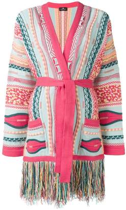 Elisabetta Franchi fringed embroidered cardigan