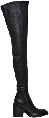 Ann Demeulemeester 80mm Over The Knee Stretch Leather Boots
