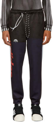 adidas By Alexander Wang by Alexander Wang Navy and Black Photocopy Lounge Pants