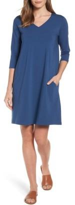 Women's Eileen Fisher Stretch Organic Cotton Jersey Shift Dress $138 thestylecure.com