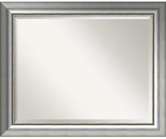 Willa Arlo Interiors Rectangle Curved Silver Bathroom Wall Mirror