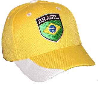 PAM GM Little Boys Brazil Soccer Caps For Toddlers 2 - 7 Years