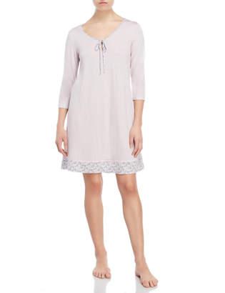 Company Ellen Tracy Printed Three-Quarter Sleeve Nightgown