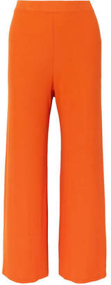 Sid Neigum Ribbed Stretch-jersey Wide-leg Pants