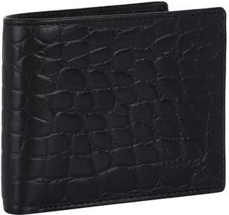Harrods Crocodile Embossed Leather Bilfold Wallet