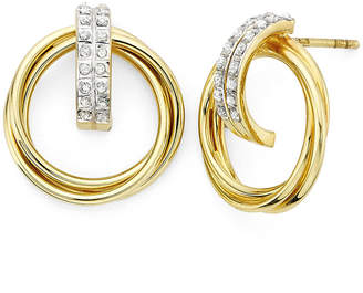 JCPenney FINE JEWELRY Diamond Fascination 18K Yellow Gold Over Sterling Silver Doorknocker Earrings