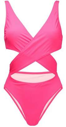 Solid & Striped The Poppy Cutout Wrap-Effect Swimsuit