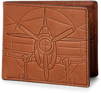 Fossil Axel Flip Bifold Leather Wallet