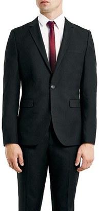Men's Topman Skinny Fit Black One-Button Suit Jacket $175 thestylecure.com