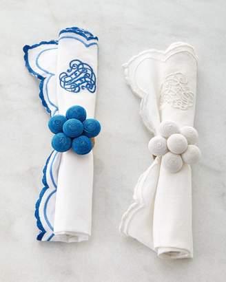 Juliska Heirloom Napkin Whitewash/Delft Blue