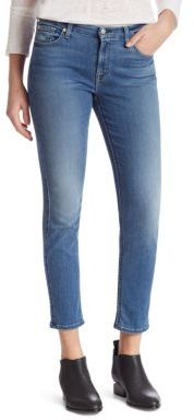 7 For All Mankind b(air) Kimmie Cropped Skinny Jeans $189 thestylecure.com