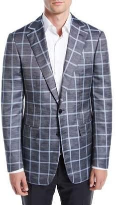 Stefano Ricci Men's Windowpane Sport Coat, Gray