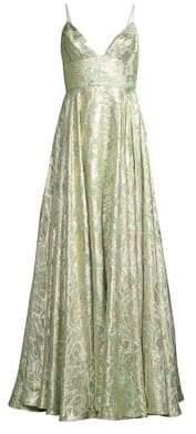 Stella Printed Chiffon Gown