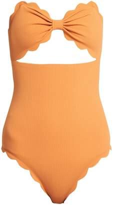 Marysia Swim Antibes scallop-edged swimsuit