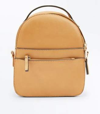 New Look Mustard Convertible Strap Micro Backpack
