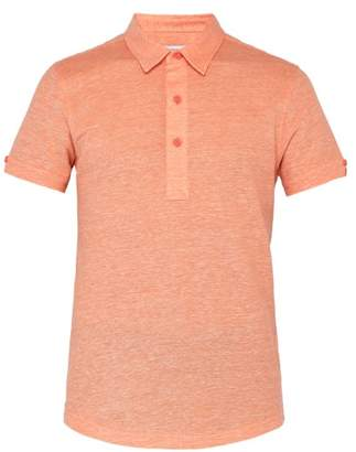 Orlebar Brown Sebastian Tailored Polo Shirt - Mens - Orange