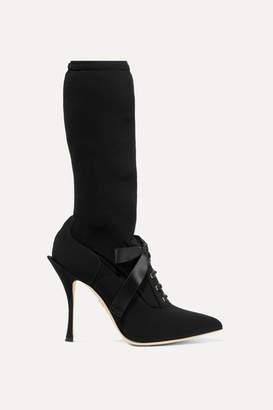 Dolce & Gabbana Grosgrain-trimmed Stretch-jersey Sock Boots - Black