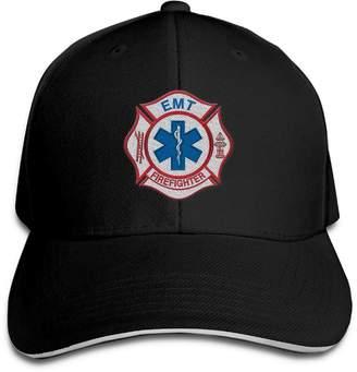 Handwerker-Wdesign EMT Firefighter Maltese Cross Men Snapbacks Hat Unique Embroidery Baseball Hat