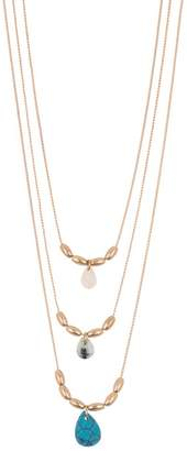 Melrose and Market Triple Layer Stone Necklace