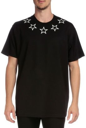 Givenchy Colombian Star-Collar Short-Sleeve T-Shirt, Black $505 thestylecure.com