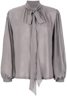 Alberta Ferretti neck bow blouse