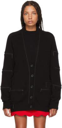 Christopher Kane Black Cashmere Zipper Cardigan